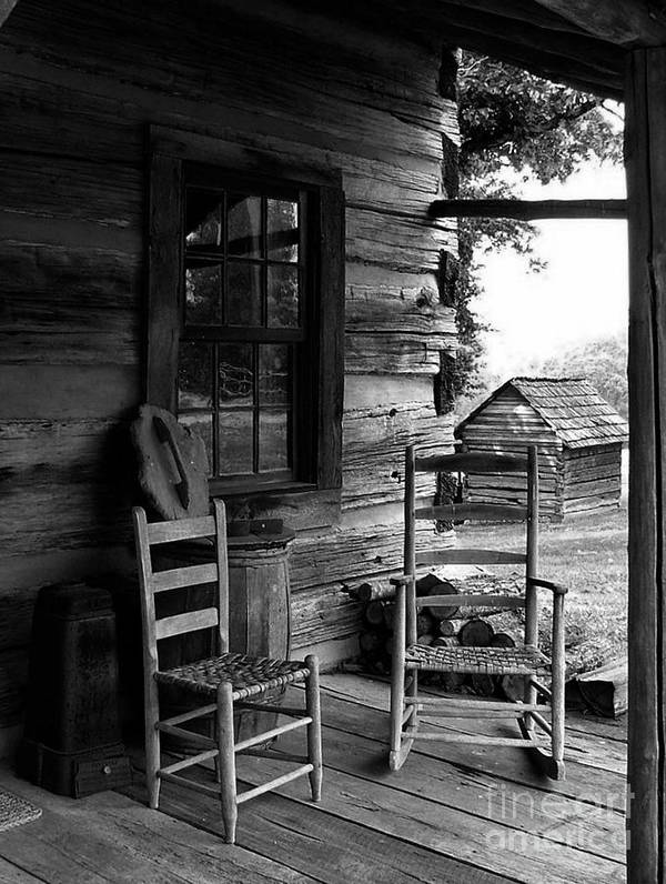Log Cabins Art Print featuring the photograph His And Hers by Julie Dant