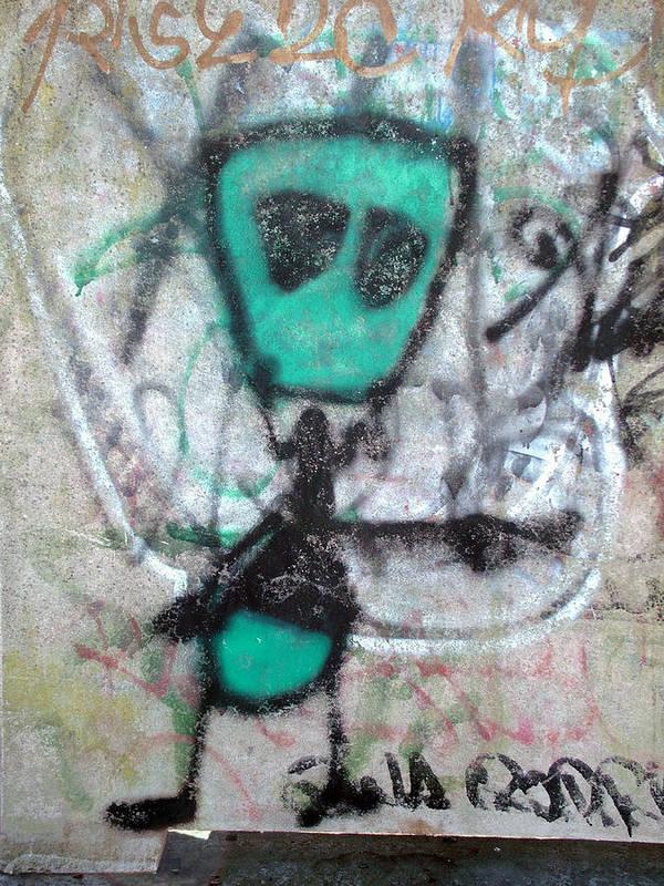 Art Art Print featuring the photograph Other People's Art - Graffiti On The Berkeley Pier by Scott Lenhart