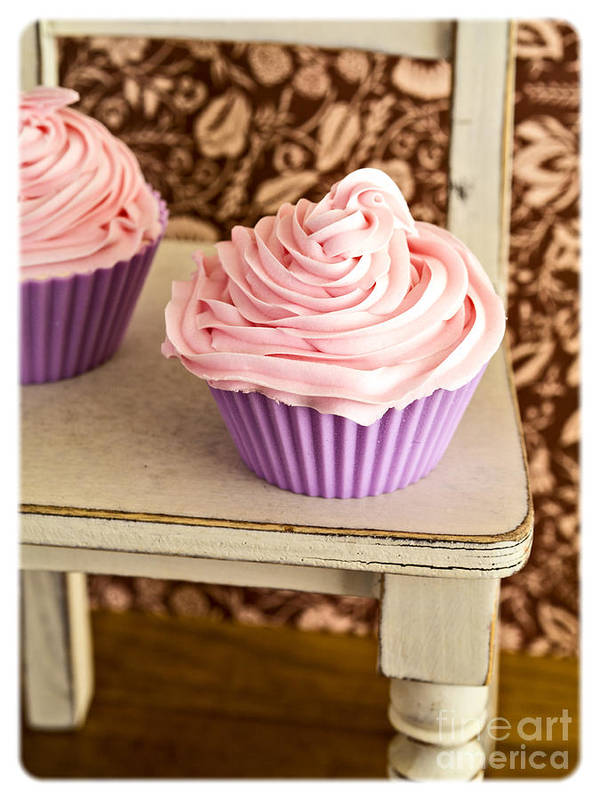 Cupcake Print featuring the photograph Pink Cupcakes by Edward Fielding