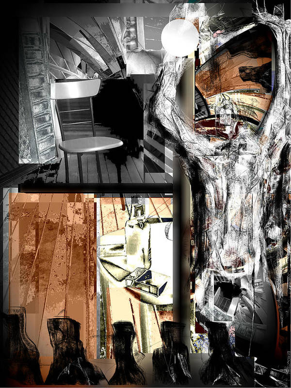 Before The Afterlife Print featuring the mixed media Before The After Life by Rc Rcd