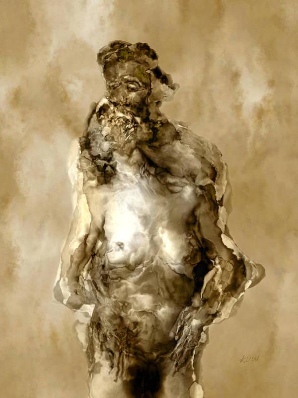 Nude Print featuring the photograph Melt by Kurt Van Wagner