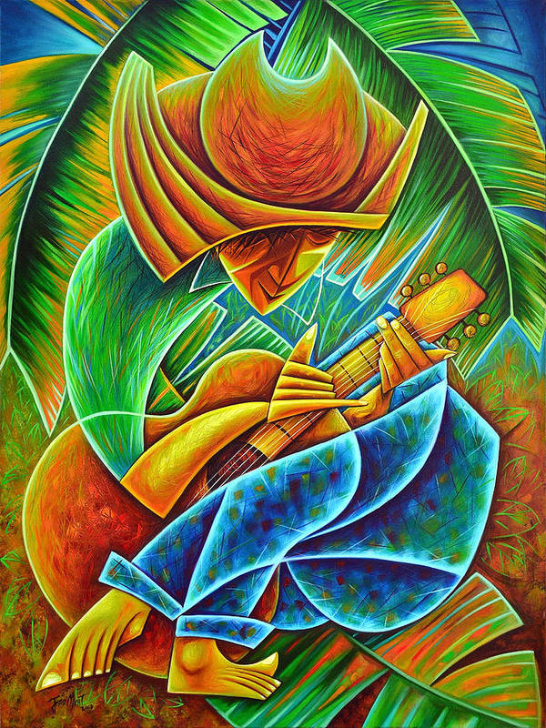 Art Print featuring the painting Minstrel by Javier Martinez