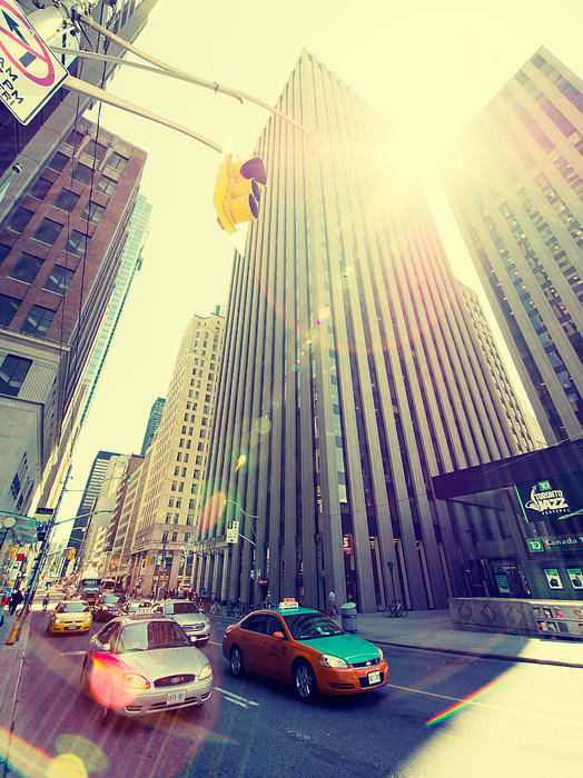 Toronto Art Print featuring the photograph Streets Of Toronto by Alexander Voss