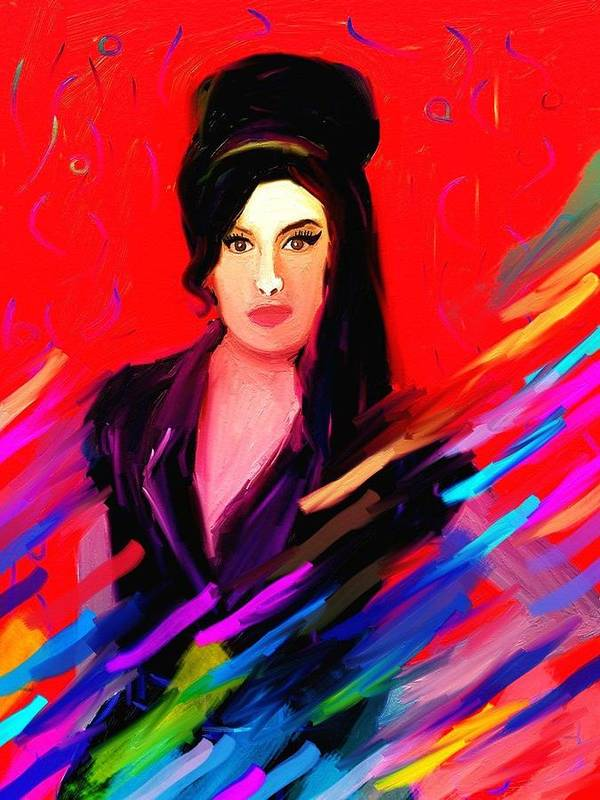 Amy Winehouse Art Print featuring the painting Amy Winehouse by Bogdan Floridana Oana