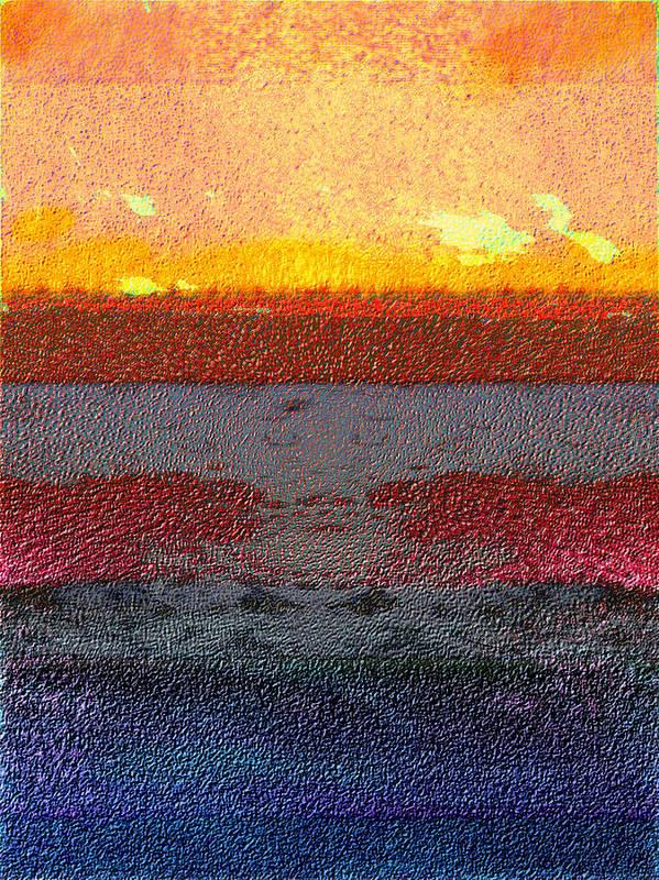 Abstract Art Print featuring the digital art 2013-10-22 by Bill Ellsworth
