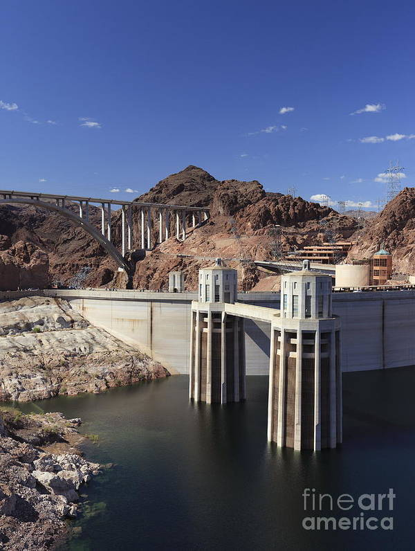 American Art Print featuring the photograph Hoover Dam by Chris Selby