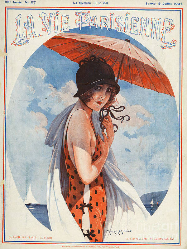 Covers Art Print featuring the drawing La Vie Parisienne 1924 1920s France by The Advertising Archives