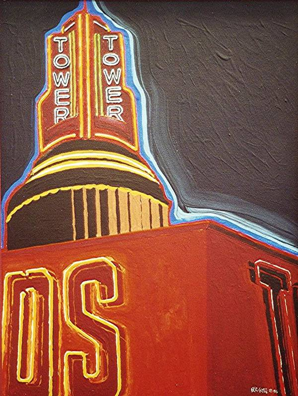 Sacramento Art Print featuring the painting Tower Theatre by Paul Guyer