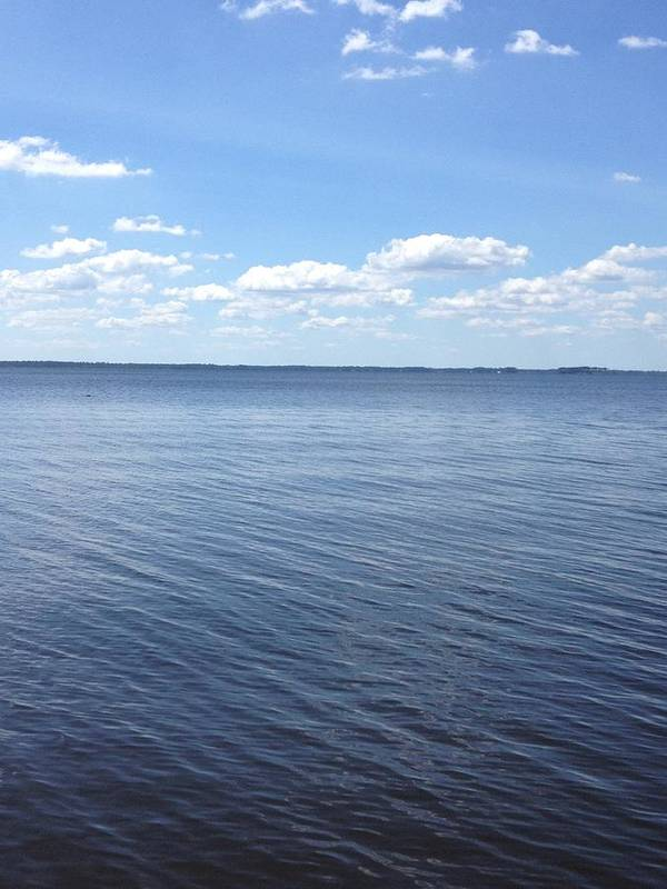 Pamlico Sound Art Print featuring the photograph A Calm Pamlico Sound by Joan Meyland