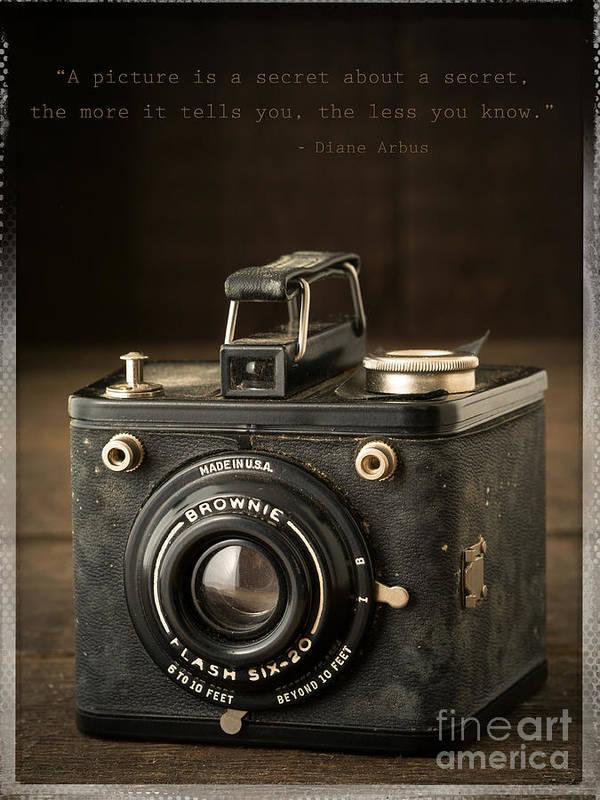 Camera Art Print featuring the photograph A Secret About A Secret by Edward Fielding