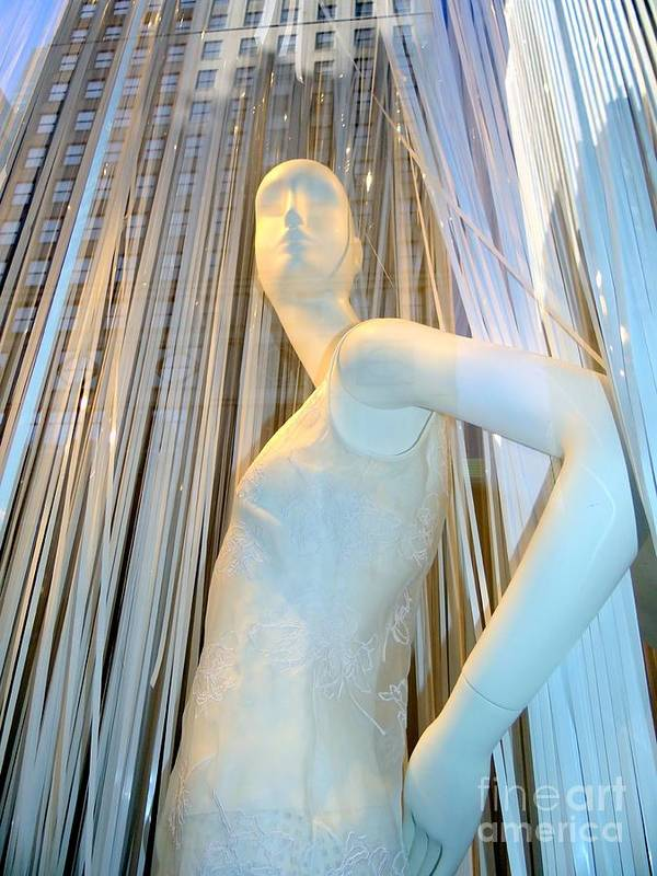 Mannequins Art Print featuring the photograph A Vision In White by Ed Weidman