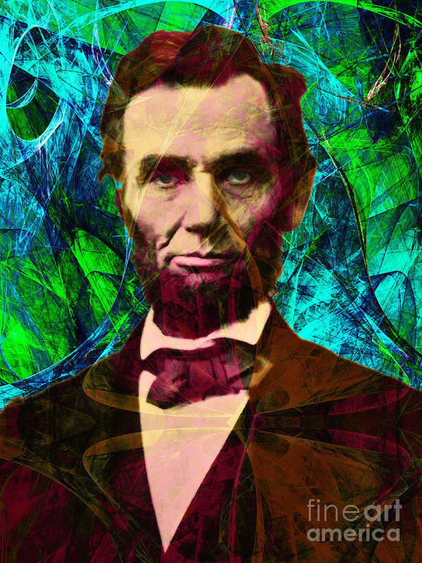 Celebrity Art Print featuring the photograph Abraham Lincoln 2014020502p145 by Wingsdomain Art and Photography