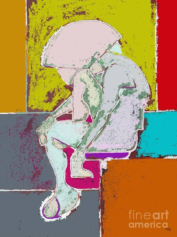 Figurative Art Print featuring the painting Abstraction 113 by Patrick J Murphy
