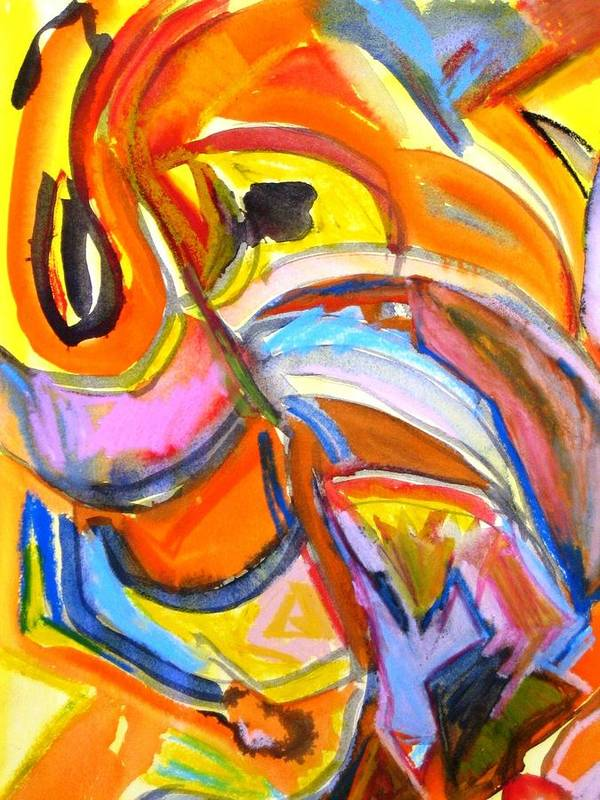 Abstract Art Print featuring the painting Alive by Rashne Baetz
