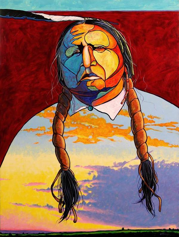 Spiritual Art Print featuring the painting All That I Am by Joe Triano