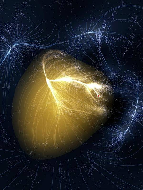 Artwork Art Print featuring the photograph Artwork Of Laniakea Supercluster by Mark Garlick