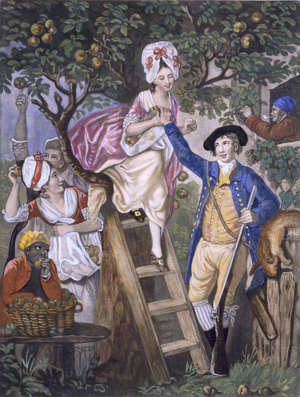 Family Art Print featuring the drawing Autumn, Negro Servant, C.1780 by John Collet