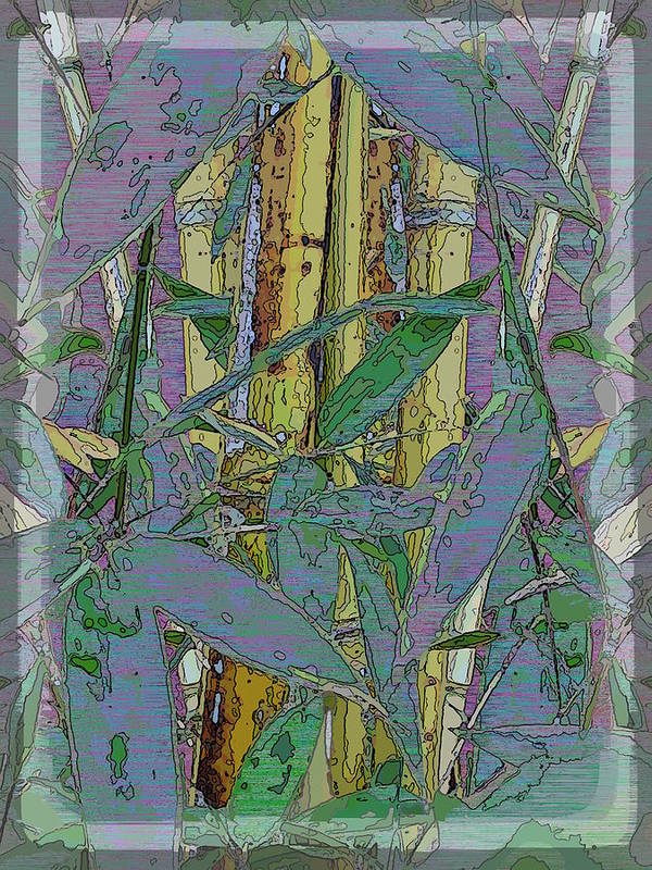 Bamboo Print featuring the digital art Bamboo Study 9 by Tim Allen