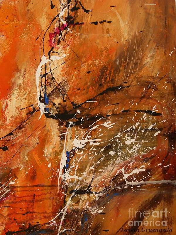 Fun Print featuring the painting Believe In Dreams - Abstract Art by Ismeta Gruenwald