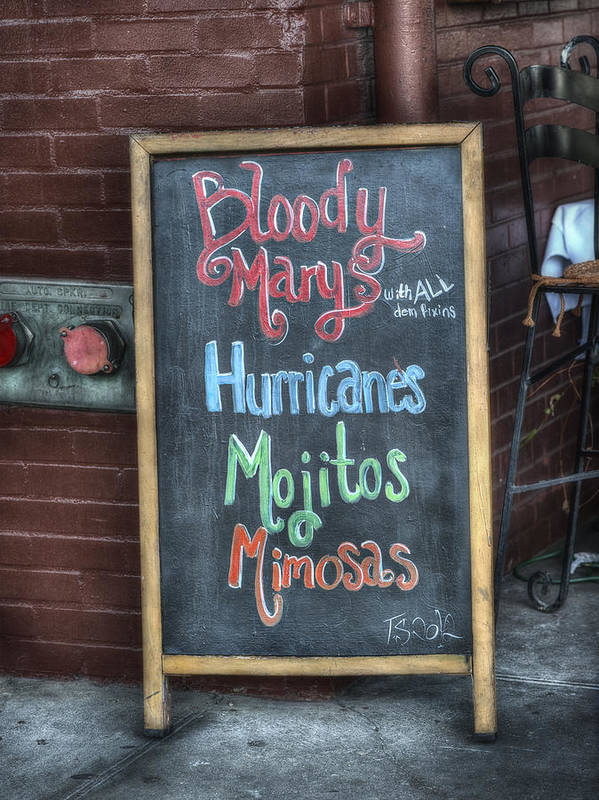 Signs Art Print featuring the photograph Bloody Marys by Brenda Bryant