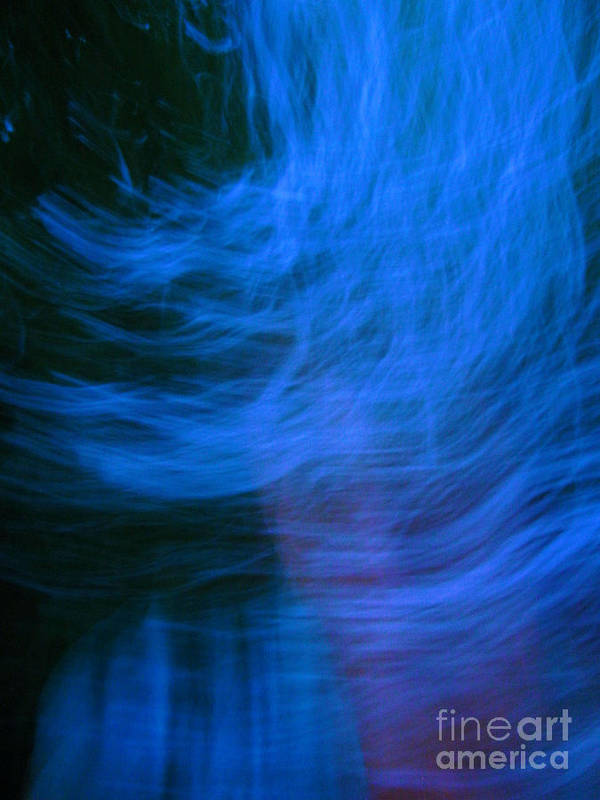 Blue Art Print featuring the digital art Blue Fire by Angelica Pizano