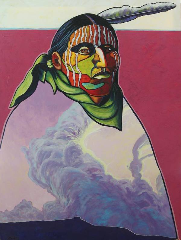 Native American Indian Art Print featuring the painting Body And Soul by Joe Triano
