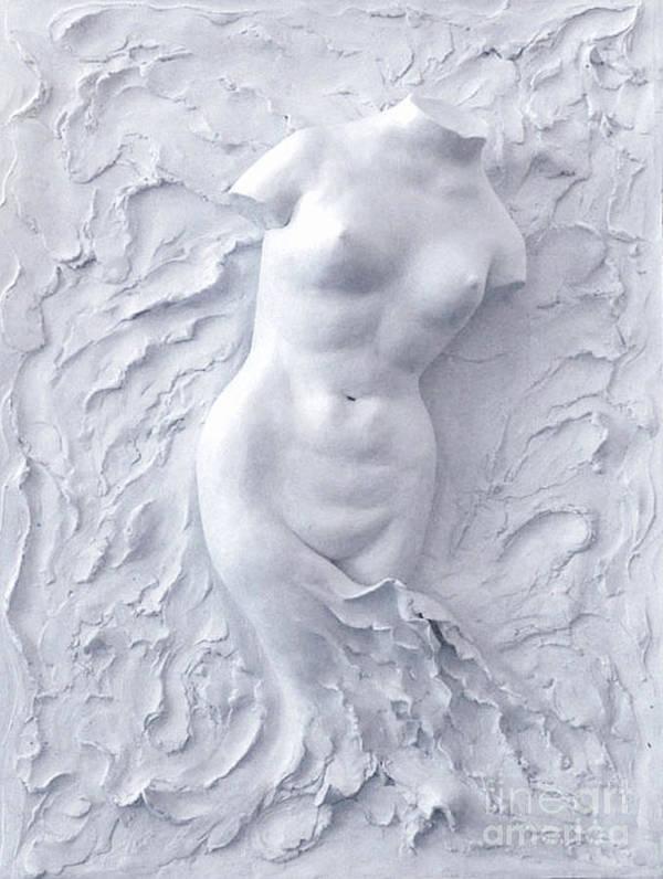 Plaster Art Print featuring the sculpture Born Again by Elena Fattakova