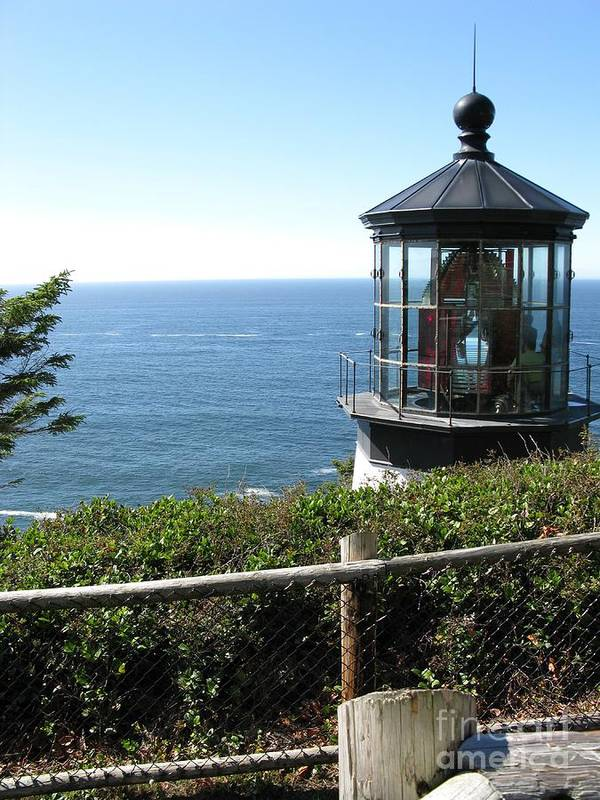 Tillamook Art Print featuring the photograph Cape Meares Lighthouse 1 by DDs Outdoors