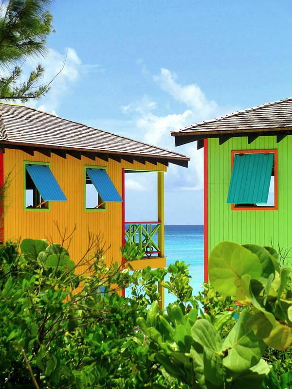 Caribbean Corner Art Print featuring the photograph Caribbean Village by Randall Weidner