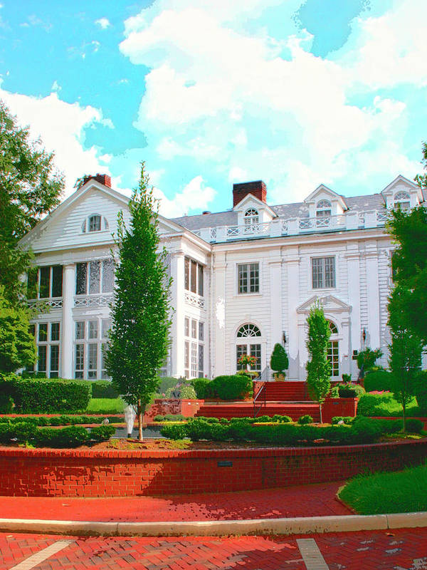 Charlotte Art Print featuring the photograph Charlotte Estate Charlotte Nc by William Dey