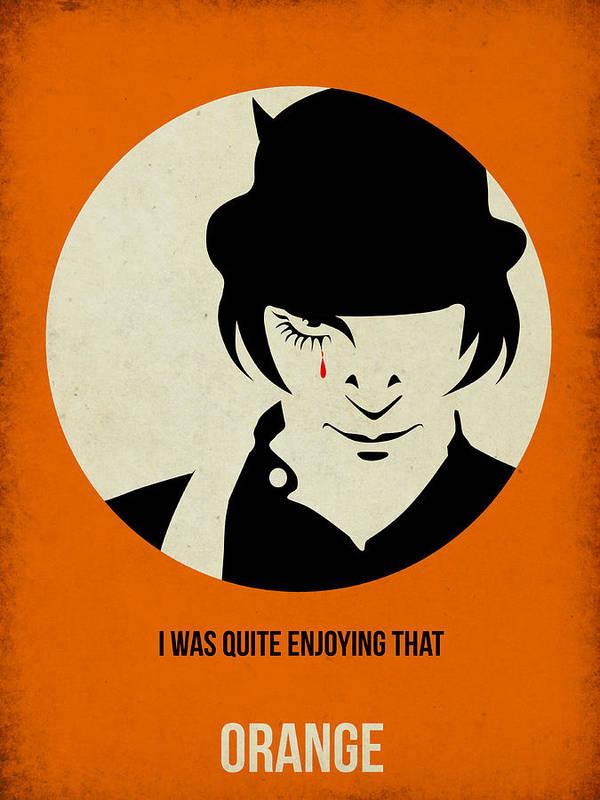 Clockwork Orange Art Print featuring the digital art Clockwork Orange Poster by Naxart Studio