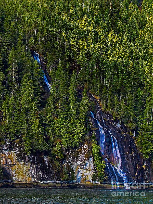 Waterfall Art Print featuring the photograph Coastal Waterfall by Robert Bales
