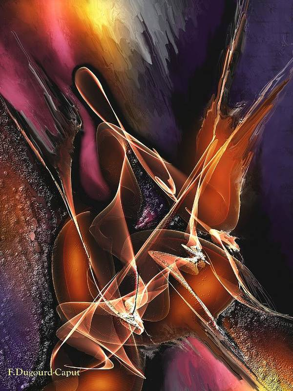 Abstract Art Print featuring the painting Concerto by Francoise Dugourd-Caput