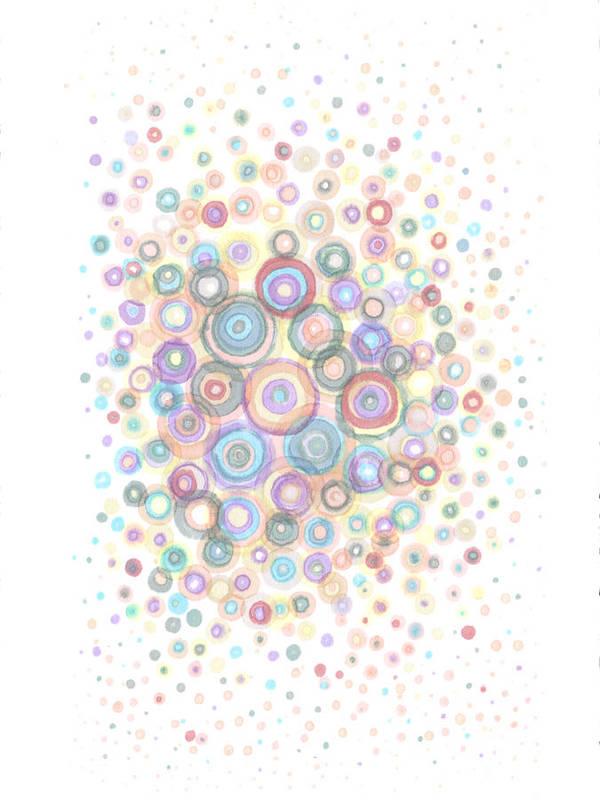 Convex Art Print featuring the painting Convexity by Regina Valluzzi