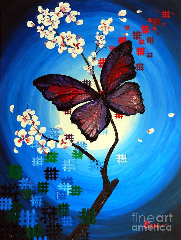 Art Art Print featuring the painting Dark Shine by Alexandru Rusu