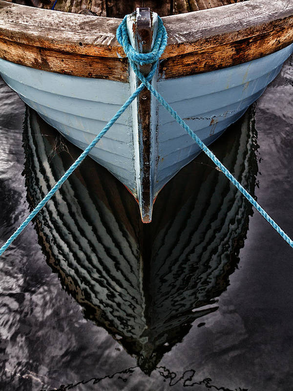 Bay Print featuring the photograph Dark Waters by Stelios Kleanthous