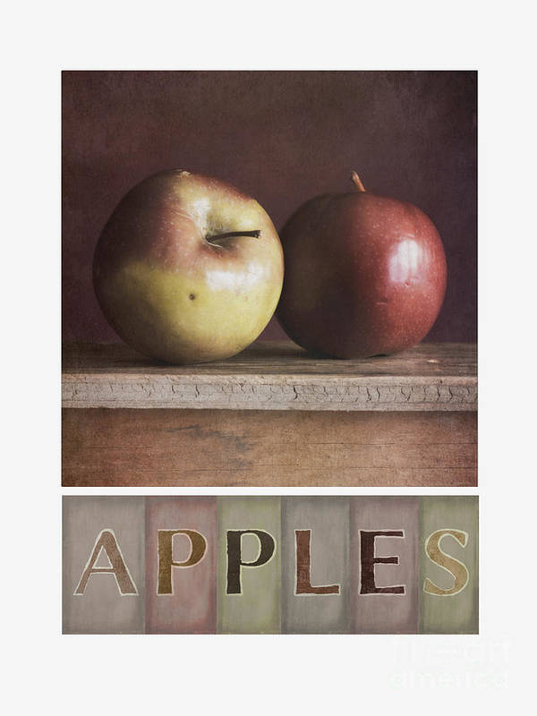 Apples Art Print featuring the photograph Deco Apples by Priska Wettstein