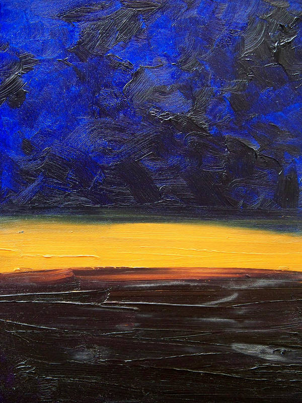 Landscape Art Print featuring the painting Desert Plains by Sergey Bezhinets