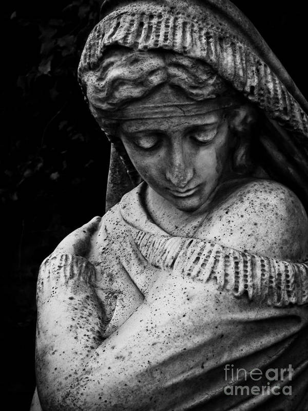 Sculpture Art Print featuring the photograph Despair by Colleen Kammerer