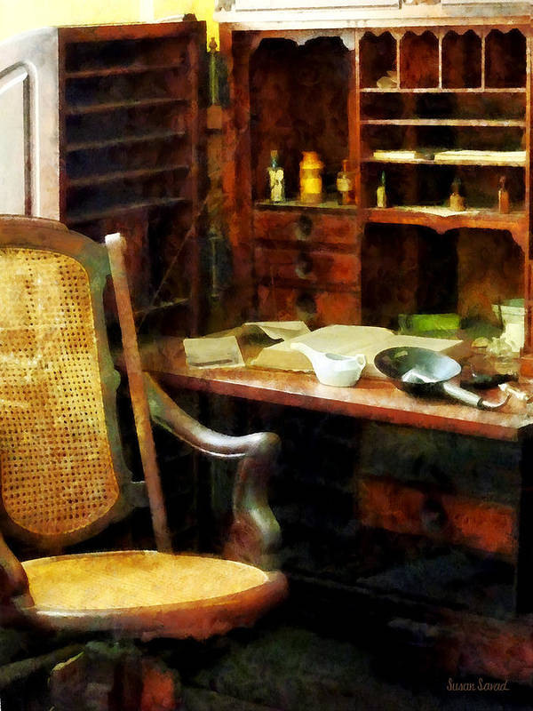 Druggist Art Print featuring the photograph Doctor - Doctor's Office by Susan Savad