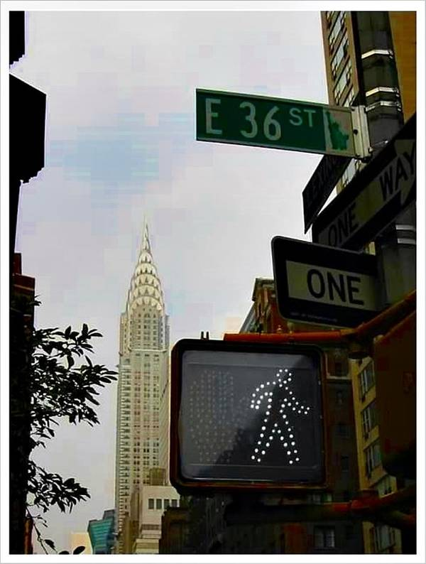 Chrysler Building Art Print featuring the photograph E 36 St by Art by Dance