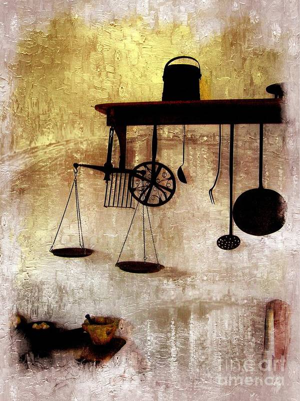 Landmark Print featuring the photograph Early Kitchen Tools by Marcia L Jones