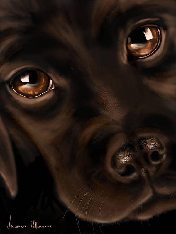 Digital Art Print featuring the painting Eyes by Veronica Minozzi