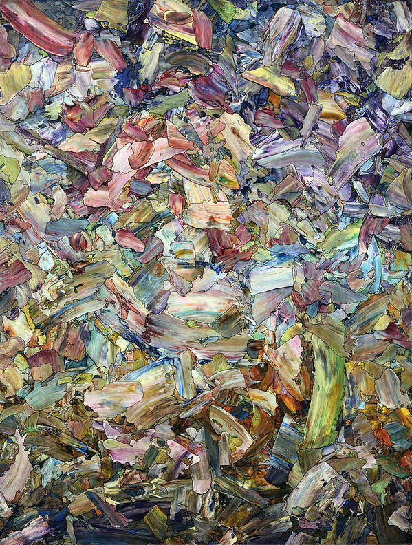 Abstract Art Print featuring the painting Roadside Fragmentation by James W Johnson