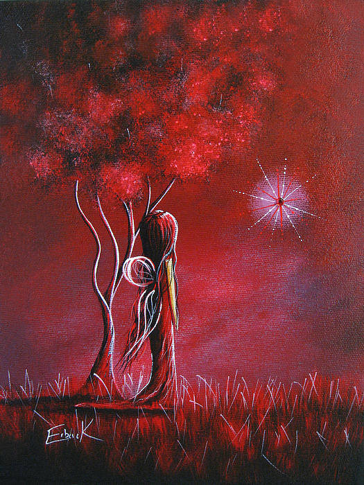 Fairy Art Print featuring the painting Garnet Fairy By Shawna Erback by Shawna Erback