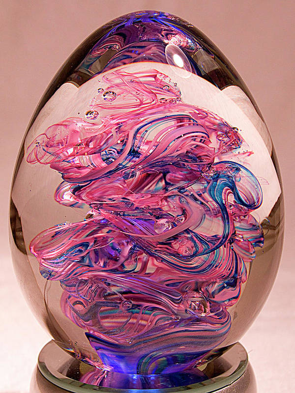 Sculpture Art Print featuring the glass art Glass Sculpture by David Patterson