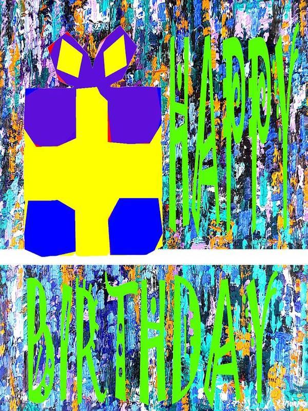 Happy Birthday Art Print featuring the painting Happy Birthday 10 by Patrick J Murphy