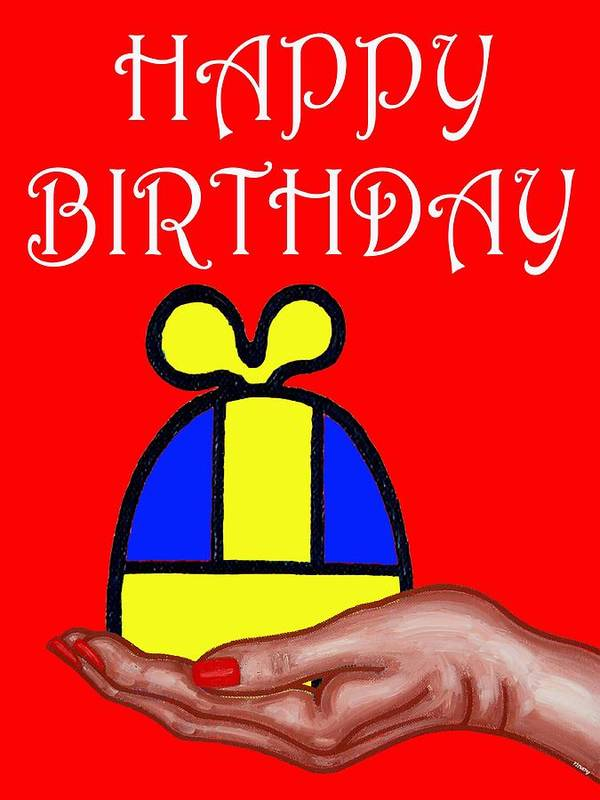 Happy Birthday Art Print featuring the painting Happy Birthday 2 by Patrick J Murphy