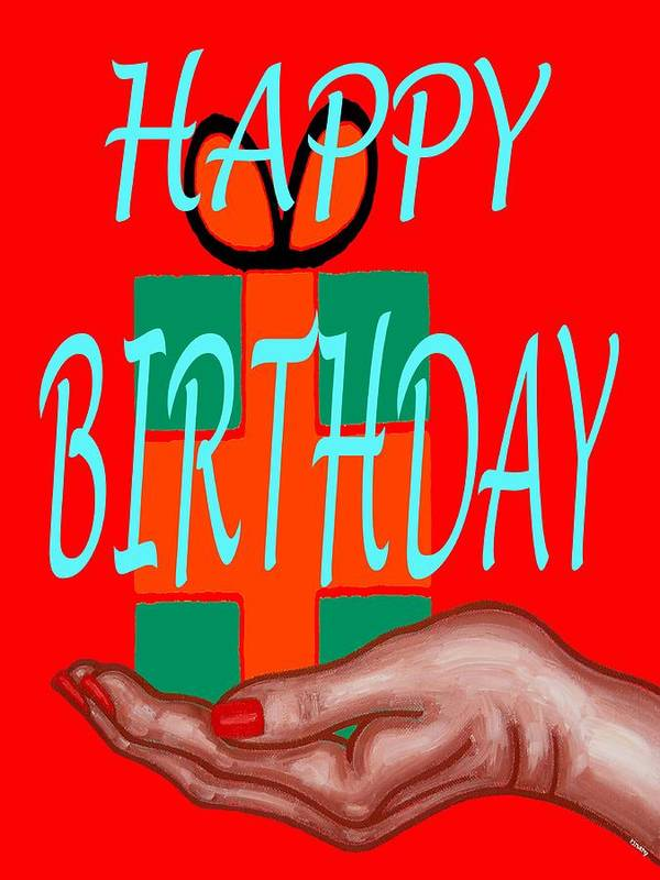 Happy Birthday Art Print featuring the painting Happy Birthday 3 by Patrick J Murphy