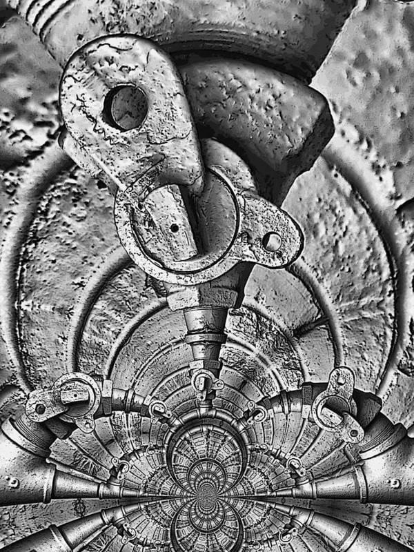 Art166.com Art Print featuring the photograph Hardware Symphonette by Wendy J St Christopher